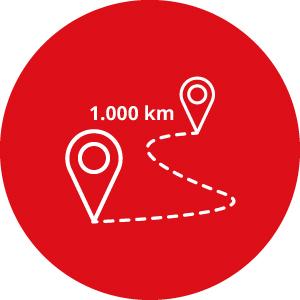 Kit 1000 chilometri opzionali - Noleggio camper Camper2Go