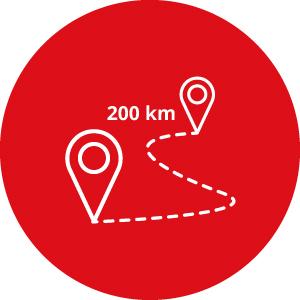 Kit 200 chilometri opzionali - Noleggio camper Camper2Go