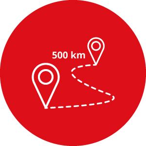 Kit 500 chilometri opzionali - Noleggio camper Camper2Go